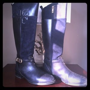 Tory Burch 2013 Blue Leather Boots Riding Style